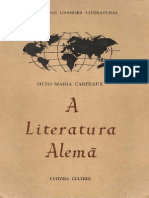 Otto Maria Carpeaux - A Literatura Alemã