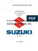 Suzuki Productions and Operations Management