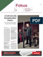 Interview Sonntagszeitung Claude Cueni