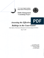 Assessing the Effectiveness of Baldrige in the Coast Guard by Albe, Earling, Field, and Gustus