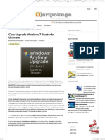 Cara Upgrade Windows 7 Starter Ke Ultimate