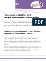 Consumer protection and people with intellectual disability