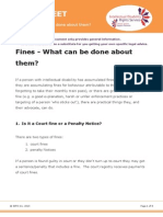 Factsheet- Fines, What can be done about them?