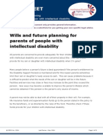 Factsheet Wills for Parents of People With Intellectual Disability