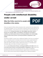Factsheet for Lawyers- People With Intellectual Disability Under Arrest