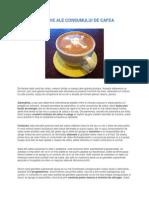 Efectele Nocive Ale Consumului de Cafea