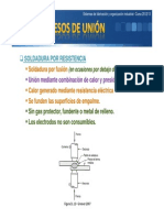 Tema 4 Soldadura Por Fusión Mediante Resistencia y Oxígeno y Gas Combustible