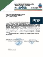 Proiectul Consiliului Local din 2012 pentru Parohia Sfantul Nicolae