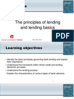 The principles of lending and lending basics