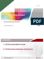 Huawei LTE Re-farming Solution -Middle East Spectrum Conf Bahrain 03-2012-_final -Emmanuel HUAWEI