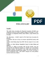 India and Saarc Prjt Anagha