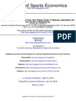Journal of Sports Economics 2013 Garmon 451 78