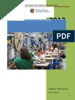 Raportul de Activitate Al Ministerului Economiei Pe Anul 2013
