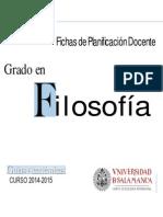 Grado en Filosofia 2014 PDFichas 0