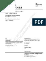 NP ENV 13670-1_2007 Execução de Estruturas Em Betão