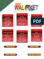 Membuat Jadwal Piket Dan Susunan Pengurus Kelas Word