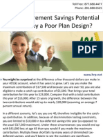 Is Your Retirement Savings Potential Limited by a Poor Plan Design?
