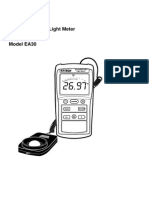 lightmeter user guide model EA30 easy view digital