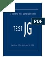 Presentación Joan Sols EL Control Del Mantenimiento. TEST JG