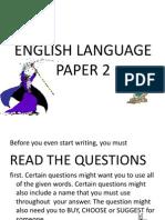 English Paper 2 UPSR