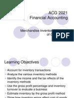 Financial Management - Merchandise Inventory