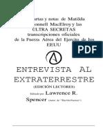 Libro Entrevista a Un Extraterrestre