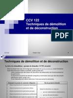 CCV122 Cours Demolition