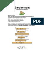 Bench - Garden Seat 3 Seater