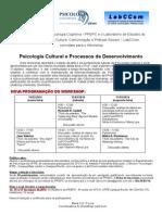 Cartaz NovaProgramaçãoWorkshop Psic Cultural e Proc Desenv março 2014