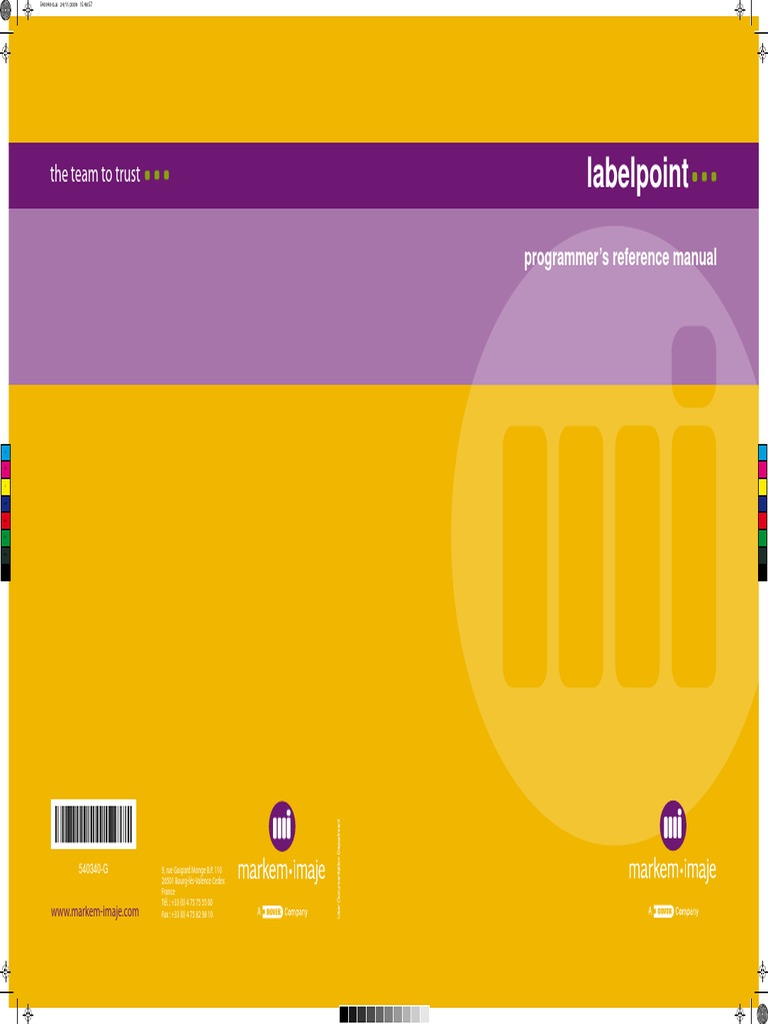 02 - Labelpoint Programmer's Reference Manual   Typefaces   Universal  Product Code