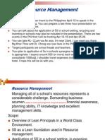 Resource Management & 5S
