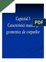 Caracteristici Masice Si Geometrice