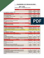 calendario 2014 2015 provas