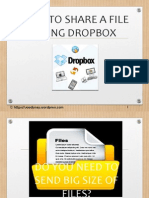 How to Share a File Using Dropbox