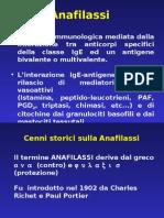 Lezione anafilassi i