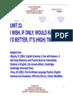 Unit 23 i Wish_if Only