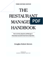 The Restaurant Manager's Handbook - Brown