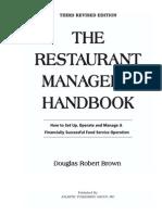 The Restaurant Manager's Handbook - Brown