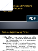 An Act Defining and Penalizing the Crime of Plunder PPT version