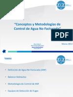 Conceptos y Metodologias de Control de Agua No Facturada