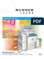 Color Canon ImageRUNNER C3200 Reference Guide