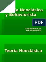 Teoría Neoclásica y Behaviorista