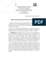 Informe Semanal Base de Misiones Gabriela Cisnero