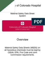 safety coordinator msds training program
