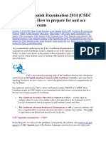 The CXC Spanish Examination 2014