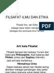 Filsafat Ilmu Dan Etika