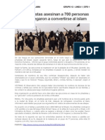 Los Yihadistas Asesinan a 700 Personas Que Se Negaron a Convertirse Al Islam