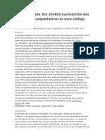 Sucessões-A Desigualdade Dos Direitos Sucessórios Dos Cônjuges e Companheiros No Novo Código Civil