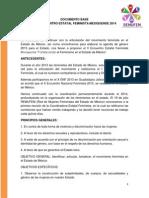 Documento Base del Encuentro Estatal Feminista Mexiquense 2014