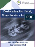 Deslocalización Fiscal Financiación e Inversión-Así Está La Economía-Septiembre-2014-Círculo de Empresarios